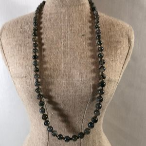 """JADE AND GOLD 22"""" NECKLACE"""